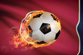 Soccer ball with flag on background series - Tennessee — Stock Photo