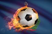 Soccer ball with flag on background series - Vermont — Stock Photo