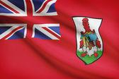 Flag blowing in the wind series - Bermuda — Stock Photo