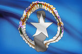 Flag blowing in the wind series - Commonwealth of the Northern Mariana Islands — Stock Photo
