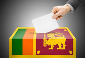 Voting concept - Ballot box painted into national flag colors - Sri Lanka — Stock Photo