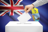 Voting concept - Ballot box with national flag on background - Saint Helena — Foto de Stock