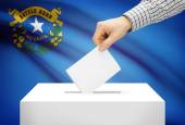 Voting concept - Ballot box with national flag on background - Nevada — Stock Photo