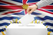 Voting concept - Ballot box with national flag on background - British Columbia — Stock Photo
