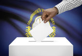 Voting concept - Ballot box with US state flag on background - Kentucky — Stock Photo