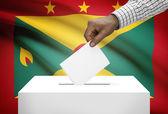 Ballot box with national flag on background - Grenada — Stock Photo