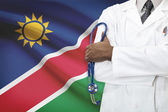 Concept of national healthcare system - Namibia — Stock Photo