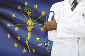 Concept of national healthcare system - Indiana — Stock Photo