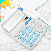 Calculator over 1040 US Tax Form — Stock Photo