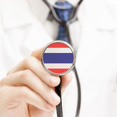 National flag on stethoscope conceptual series - Tanzania — Stock Photo