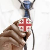 Stethoscope with national flag conceptual series - Georgia — Stock Photo