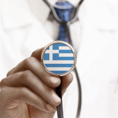Stethoscope with national flag conceptual series - Hellenic Repu — Stock Photo