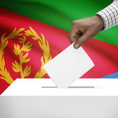 Ballot box with national flag on background series - Eritrea — Stock Photo