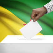 Ballot box with national flag on background series - French Guiana — Stock Photo