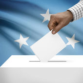 Ballot box with national flag on background series - Federated States of Micronesia — Stock Photo