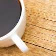 Cup of black coffee - close up studio shot — Stock Photo #73645139