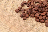 Coffee beans on table - close up shot — Stock Photo