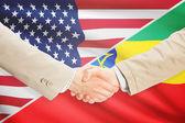 Businessmen handshake - United States and Ethiopia — Стоковое фото