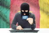 Concept of cybercrime with national flag on background - Cameroon — Stock Photo