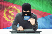 Concept of cybercrime with national flag on background - Eritrea — Stock Photo