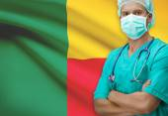 Surgeon with flag on background series - Benin — Stock Photo