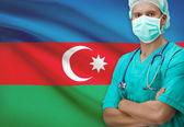 Surgeon with flag on background series - Azerbaijan — Stock Photo