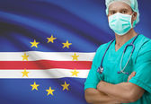 Surgeon with flag on background series - Cape Verde — Stock Photo