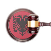 National legal system conceptual series - Albania — Stock Photo