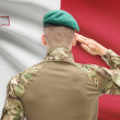 National military forces with flag on background conceptual series - Malta — Stock Photo #77380478
