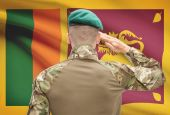 National military forces with flag on background conceptual series - Sri Lanka — Stock Photo