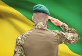 National military forces with flag on background conceptual series - French Guiana — Stock Photo