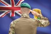 National military forces with flag on background conceptual series - Turks and Caicos Islands — Stock Photo