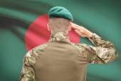 National military forces with flag on background conceptual series - Bangladesh — Stock Photo