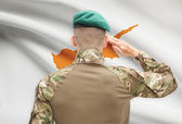 National military forces with flag on background conceptual series - Cyprus — Stock Photo