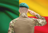 National military forces with flag on background conceptual series - Benin — Stock Photo