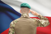 National military forces with flag on background conceptual series - Czech Republic — Stock Photo