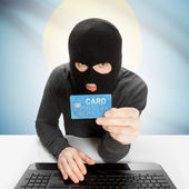 Cybercrime concept with national flag - Palau — Stock Photo