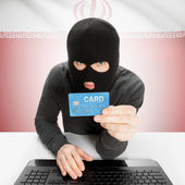 Cybercrime concept with national flag - Iran — Stock Photo