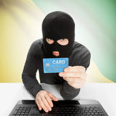 Cybercrime concept with national flag - French Guiana — Stock Photo