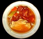 Turkey soup — Stock Photo