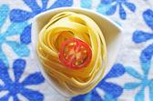 Raw ribbon pasta — Stock Photo