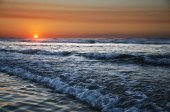 Sunset on atlantic coast — Stock Photo
