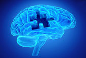 Dementia disease and a loss of brain function and memories — Stock Photo