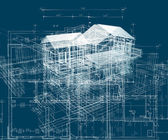 Blue building structure  — Stock Photo