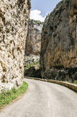 Road Trough The Pyrenees Mountains — Stock Photo