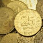 25 Centavo Philippine Coins — Stock Photo #77368492