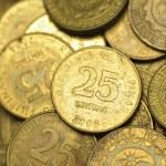 25 Centavo Philippine Coins — Stock Photo #77368502