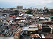 Squatter Shacks and Houses in a Slum Urban Area — Stock Photo