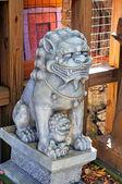 Mythological lion statues — Stock Photo