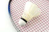 Racket badminton with shuttle cock — Stok fotoğraf